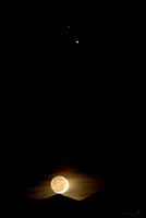 Moonset Under a Planetary Conjunction