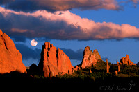 Moonrise Through Cathedral Valley