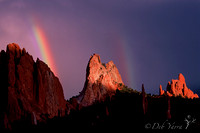 Double Rainbow Graces Cathedral Valley**